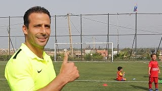 Ludovic Giuly en visite à la FCB Escola Maroc