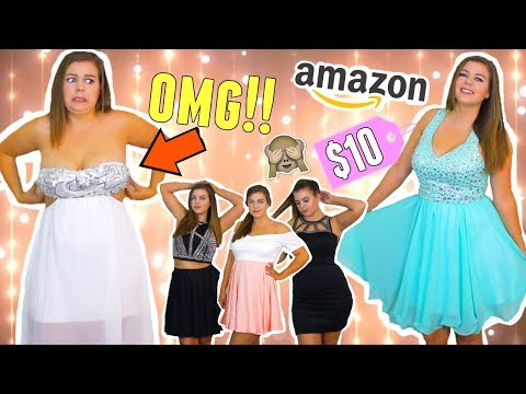 Trying On Cheap Homecoming Dresses From Amazon Curvy Girl Homecoming Dress Try On