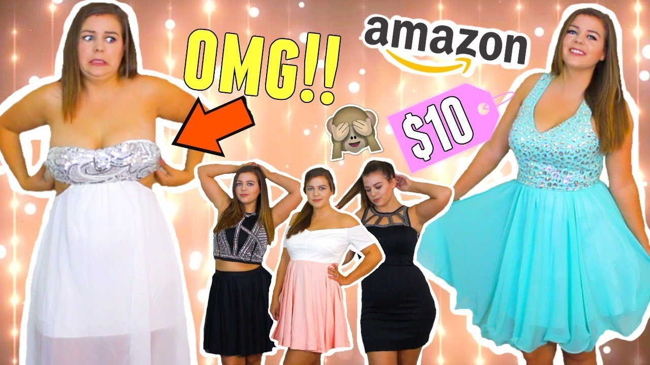 Trying On Cheap Homecoming Dresses From Amazon Sierra Schultzzie