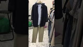 네이비 셔츠 코디 -3