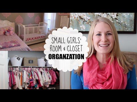 BUDGET ORGANIZING | Small Girls' Room & Closet