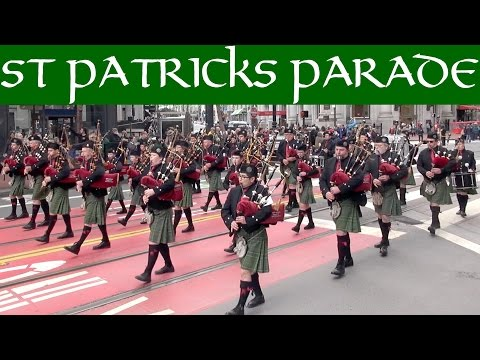 St. Patrick's Day Parade San Francisco 2016 excerpts/compilation