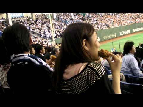 Jay and Sunny in Japan: Part 8 - Japanese Baseball Game (Yomiuri Giants vs. Seibu Lions)