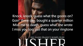 Hey Daddy - Usher Feat. Plies (Lyrics)