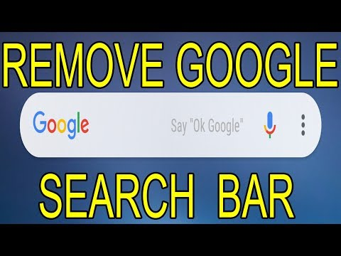 Remove Google Search Bar From Home Screen On Android Phone