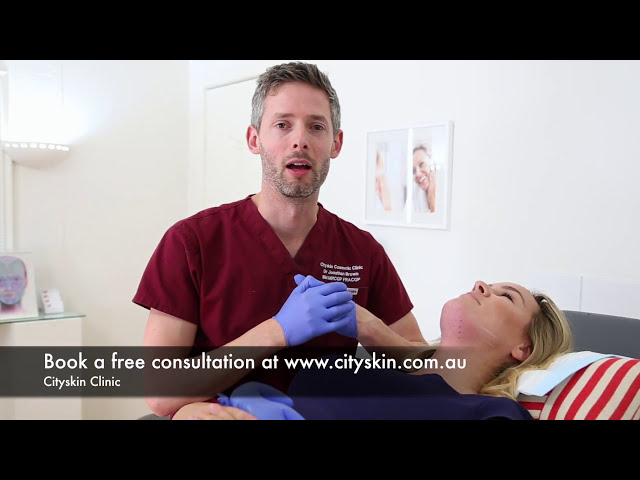 Double chin injections  by Dr Jonathan Brown at Cityskin Clinic, Melbourne