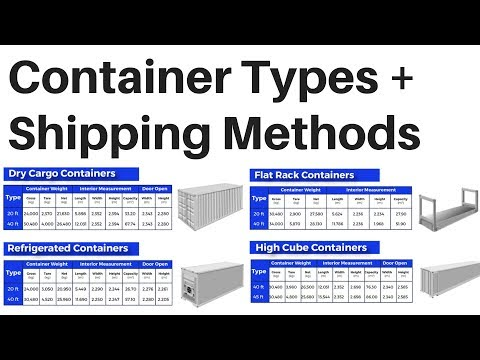 Shipping Container Types Sizes Shipping Methods Import Export International Trade