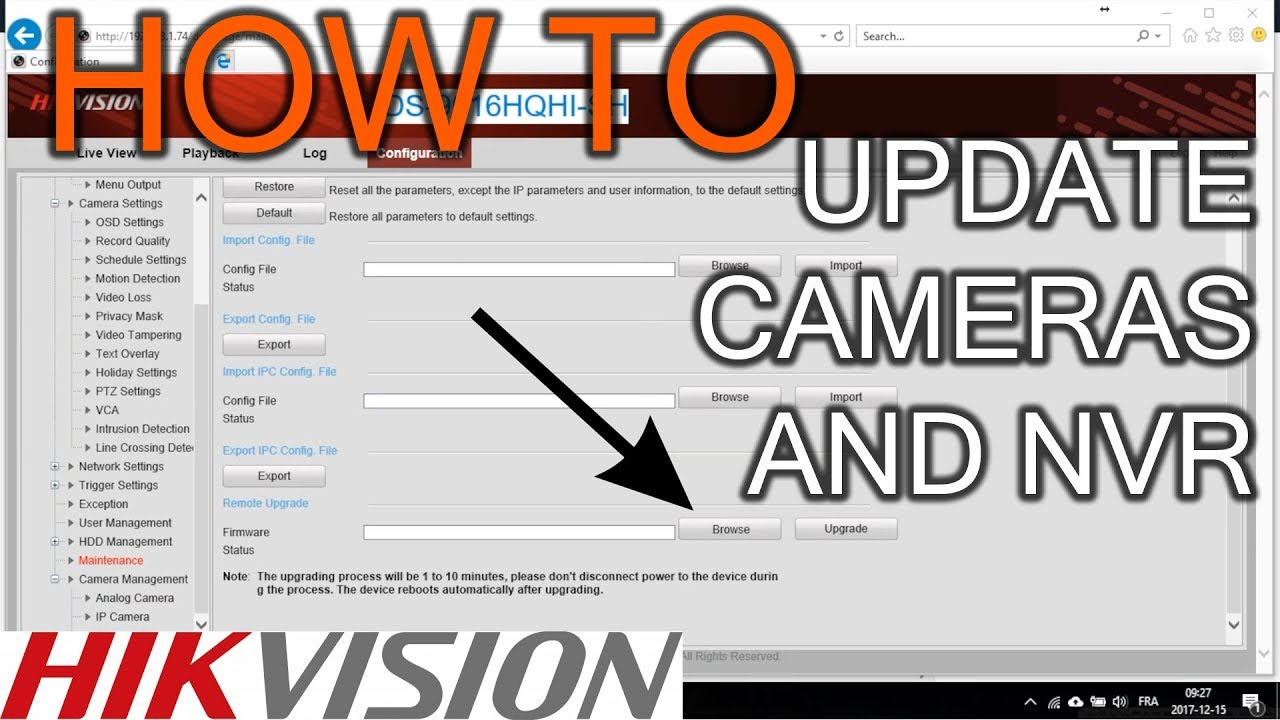 How to Update Hikvision Camera and NVR