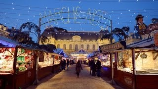 Walking Around Rennes at Christmas Time, France