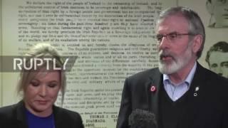 UK: Gerry Adams pays tribute to 'passionate Irish republican' Martin McGuiness