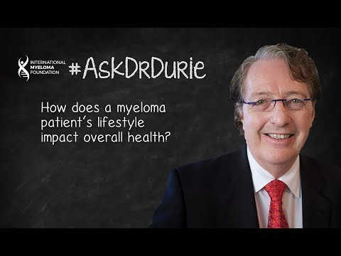 How does a myeloma patient's lifestyle impact overall health?