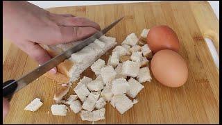 2 TOST Ekmeği 2 Yumurta ile NEFIS BIR KAHVALTI . 5 DAKIKADA KOLAY PRATIK KAHVALTI TARIFI