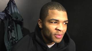 Aaron Harrison talks about West Virginia pre-game comments pushing Kentucky to play even harder. Video by Ben Roberts