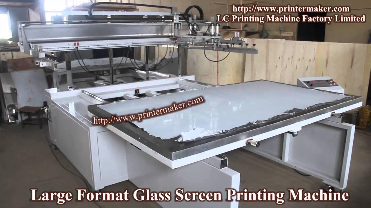 Large Format Glass Screen Printing Machine Youtube