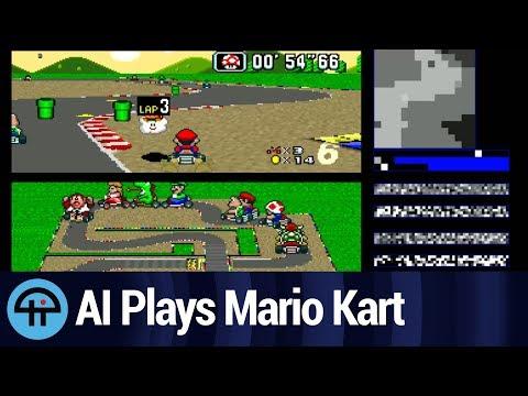 AI Neural Network Learns to Play Mario Kart