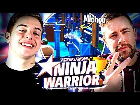 On participe avec Michou et Doc Jazy à Ninja Warrior Fortnite édition ! thumbnail
