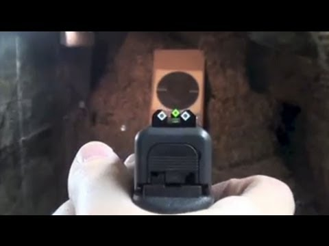 Speed Sights On A Glock Pistol Installing And Shooting