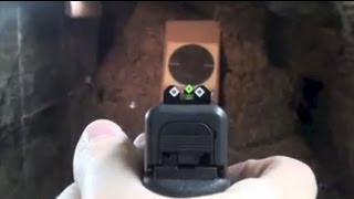 Speed Sights on a Glock pistol (installing and shooting)