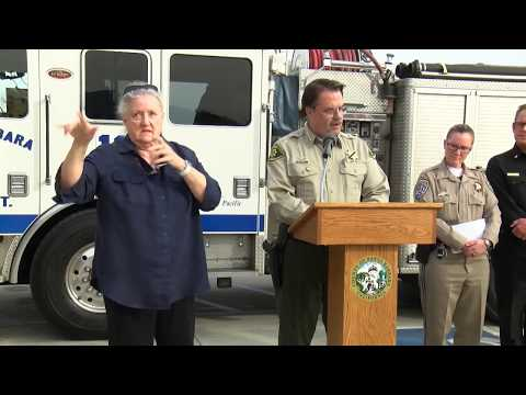 Santa Barbara County press conference on storm evacuations 3-19-18
