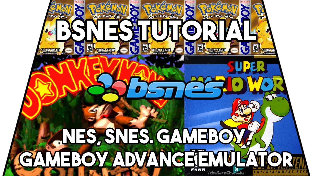 SNES Emulator Tutorial - BSNES v0 88