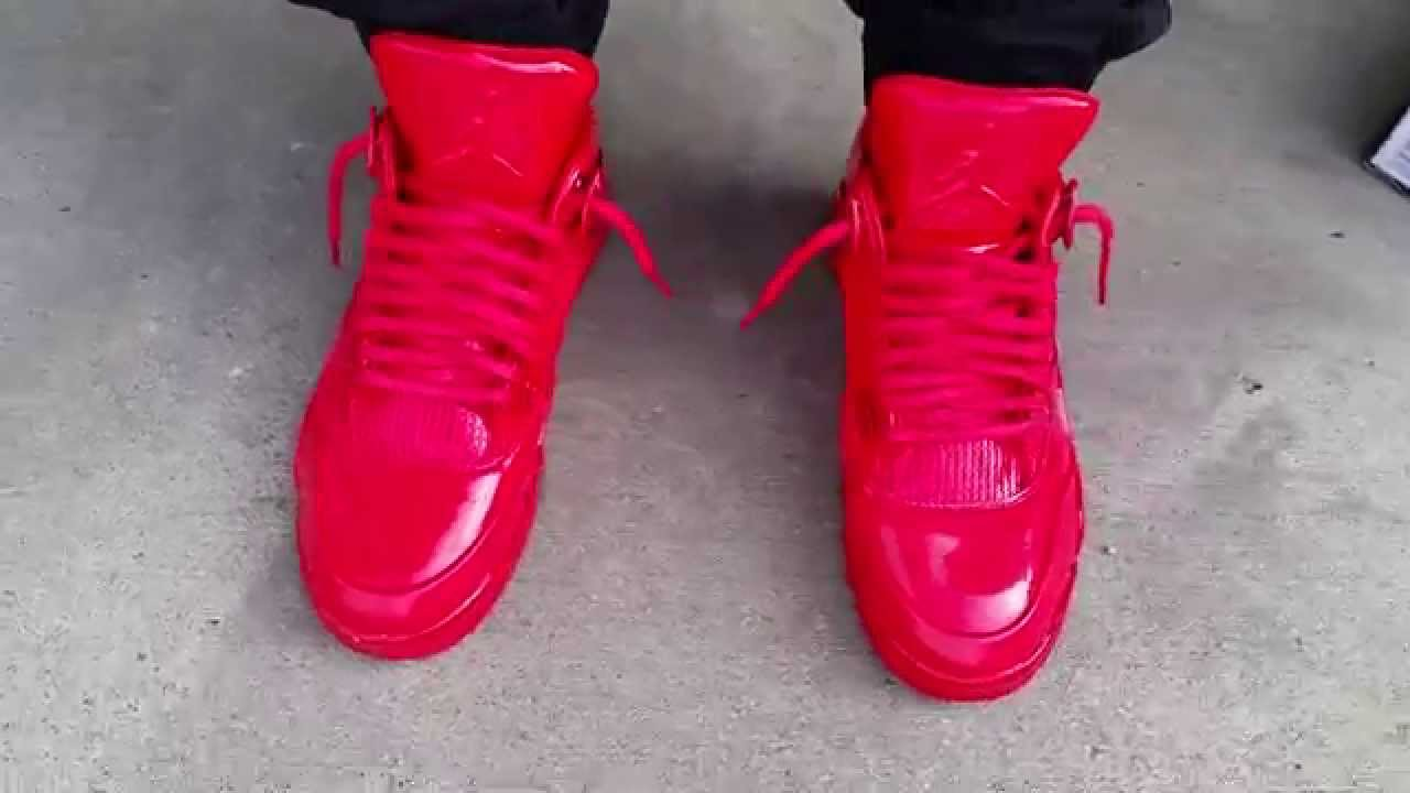 a3fb3170dc24 NIKE AIR JORDAN 11 XI 4 IV RETRO 11LAB4 UNIVERSITY RED OCTOBER ON FEET  REVIEW HEAT! - YouTube
