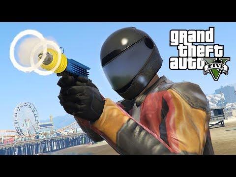 NEW Ray Gun in GTA 5!! (GTA 5 Online DLC Update)