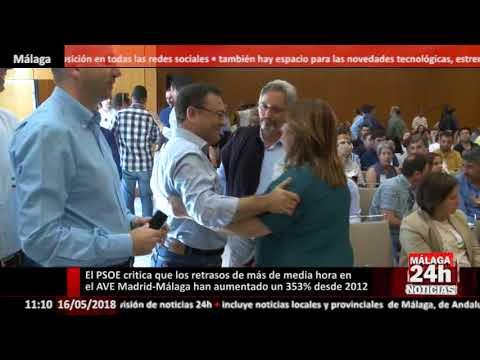 Heredia critica los retrasos de más de media hora en el AVE Madrid-Málaga