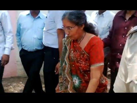 Narendra Modi wife Jashoda Ben casts her vote in Mehsana
