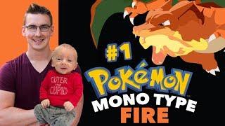 Luke and J Play Pokemon Leaf Green   Mono Type FIRE Run #1