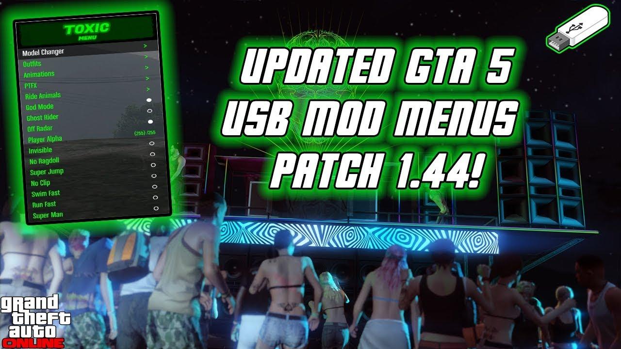 GTA5 Online: NEW USB MOD MENU TUTORIAL | UPDATED | XBOX ...