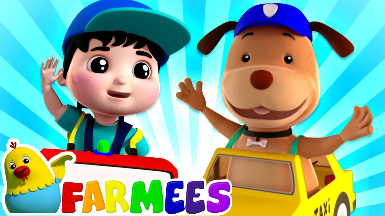 Halo pak taksi   Kartun untuk anak   Lagu anak anak   Farmees Indonesia   Bayi sajak   Prasekolah