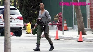 Kelly Rowland Is Briefly Spotted In An Army Influenced Ensemble While Out Running Errands 3.9.18