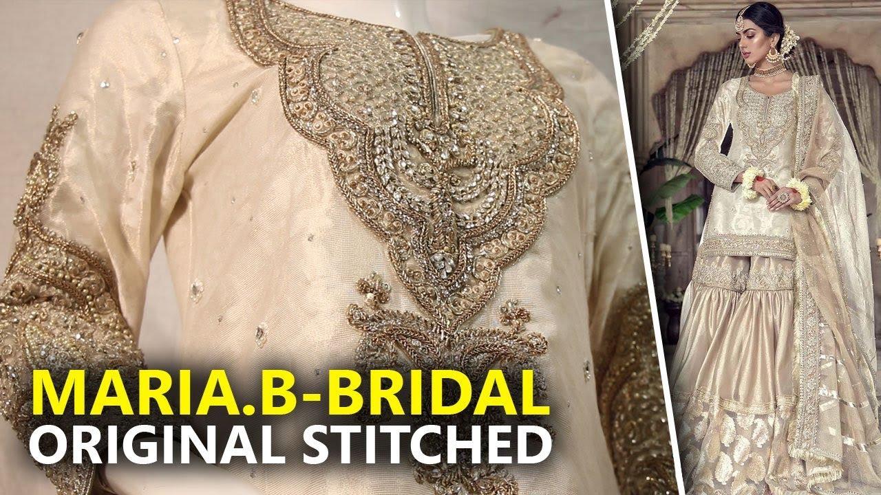 eba306eb9c Maria B Bridal Couture 2019 - Stitched Ivory MC-010 - Sara Clothes Try on  Haul