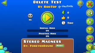 A robtop 2.2 test level! [Delete test] (Got deleted) (READ DESCRIPTION)