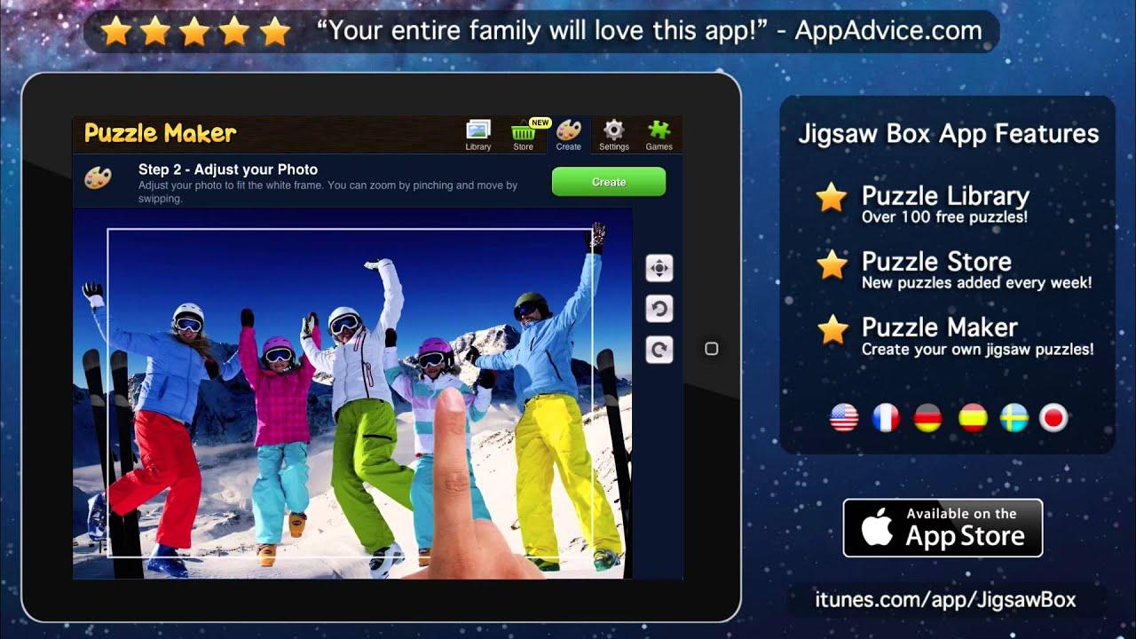 jigsaw box the best jigsaw puzzle app for your ipad youtube