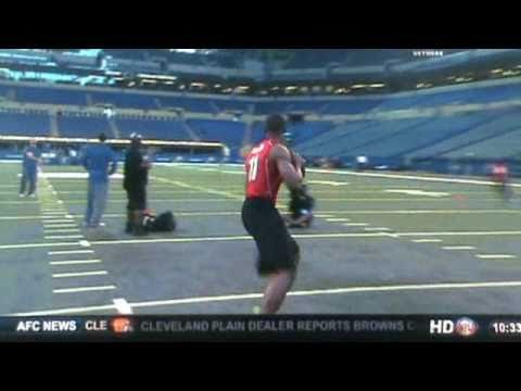 Cam Newton Auburn Combine Workout For NFL DRAFT
