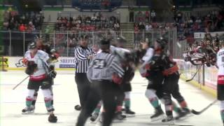 Tylor Michel Knee on Knee with Darryl Lloyd - Michel vs Phillips Roughing 23-12-12