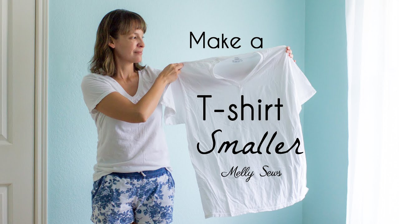 how to make a t shirt smaller youtube