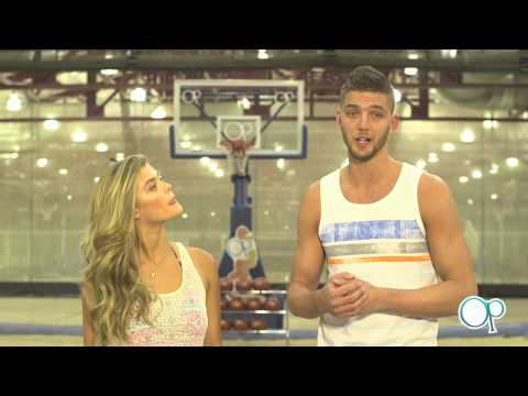 "Nina Agdal & Chandler Parsons in ""Dunks for Donation"""