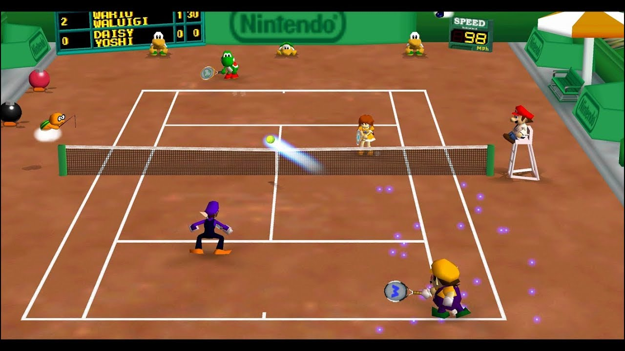 Mario Tennis N64 Star Tournament Doubles All Cups 2 player ...