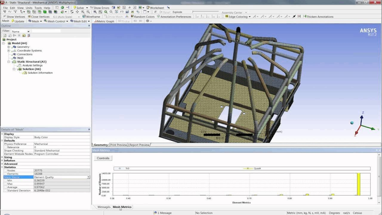 Beam and Shell Modeling with ANSYS Mechanical [Tutorial]