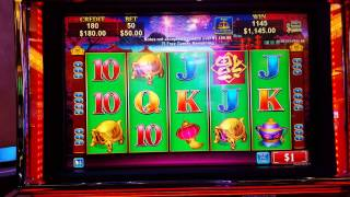 China Shores Slot Hand Pay  $50 Spin Bonus 102 Free Games High Limit Max Bet