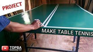 Cara membuat meja tennis pingpong   DIY ping pong table
