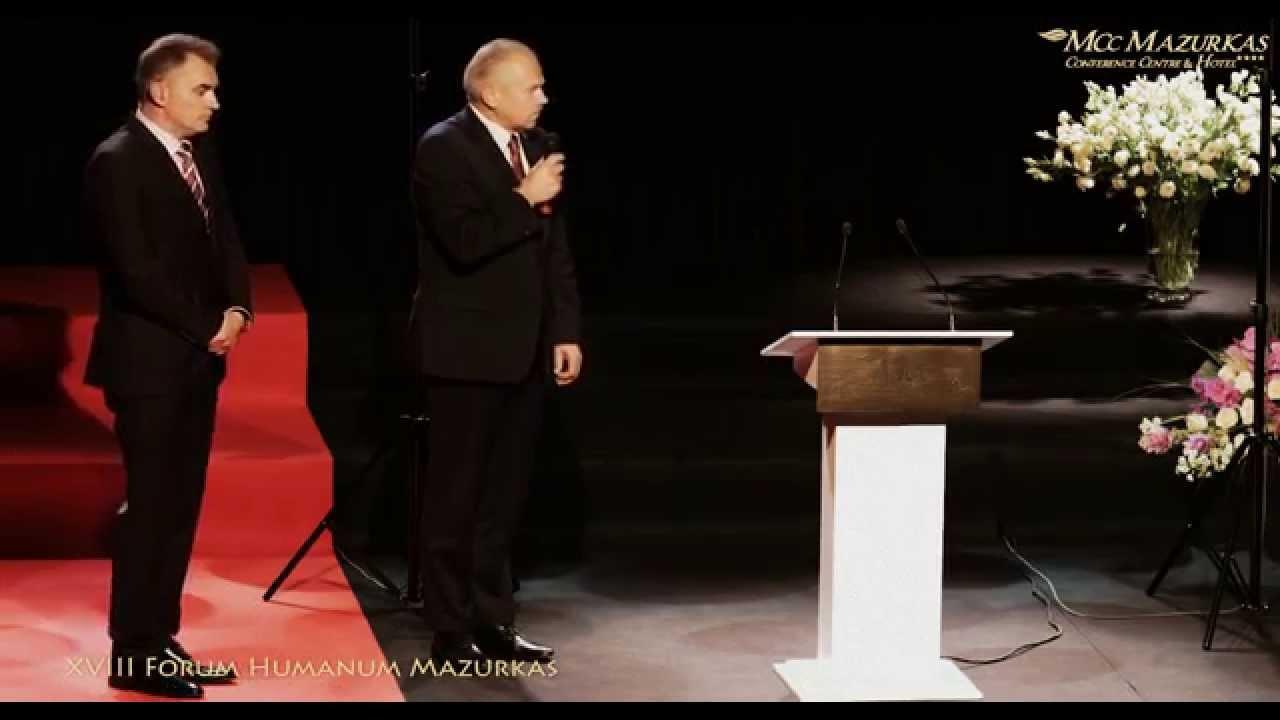 XVIII FH Mazurkas - starosta Jan Żychliński i burmistrz Ożarowa Paweł Kanclerz dla L.Wałęsy