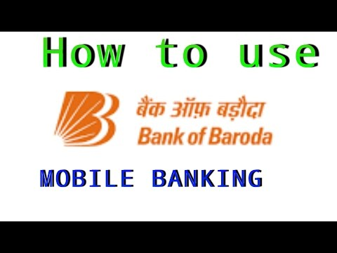 How to use bank of Baroda m-connect mobile banking apps