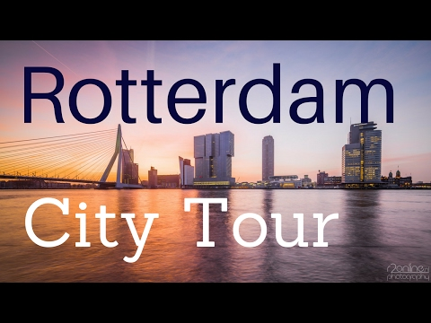 Rotterdam, The Netherlands (City Center Tour) walking and cycling .. GoPro