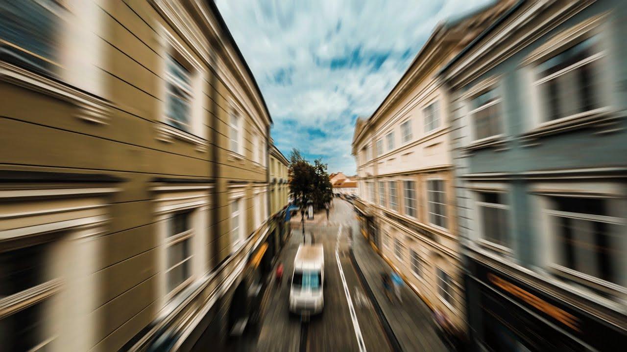 Flying Through Vilnius In FPV
