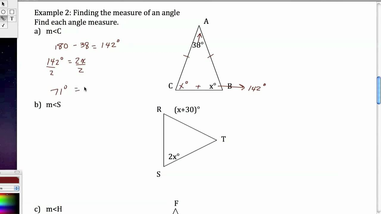 Worksheets Isosceles And Equilateral Triangles Worksheet isosceles and equilateral triangles youtube