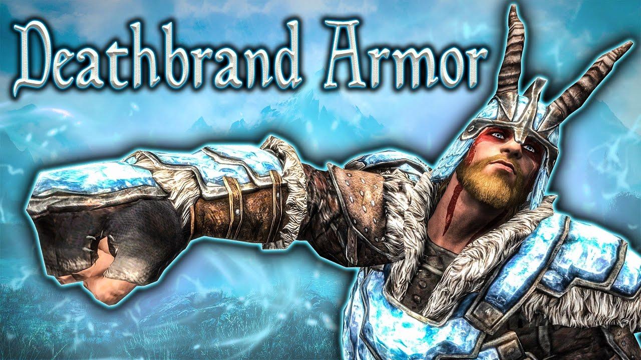 Skyrim Se Deathbrand Set Unique Armor Guide Youtube