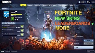 Fortnite Update: Skins, Leaderboards, Character Customization and More
